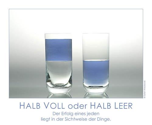 Halb Voll Glas Das Glas Immer Halb Voll