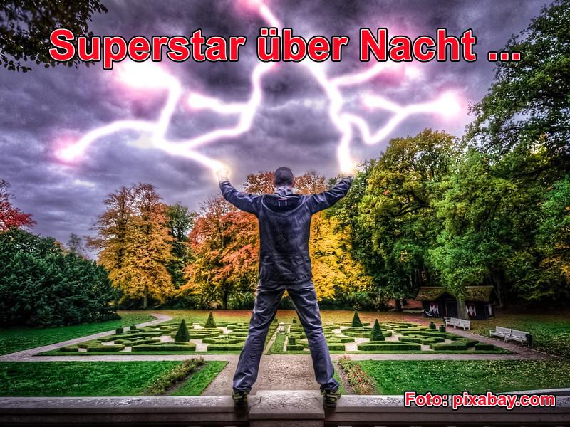 Blogbeitrag Superstar über Nacht